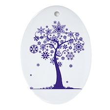 Winter Tree Ornament (Oval)