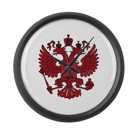 Medieval Eagle Crest Large Wall Clock