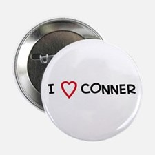 I Love CONNER Button