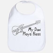 Dad Plays Bass Bib