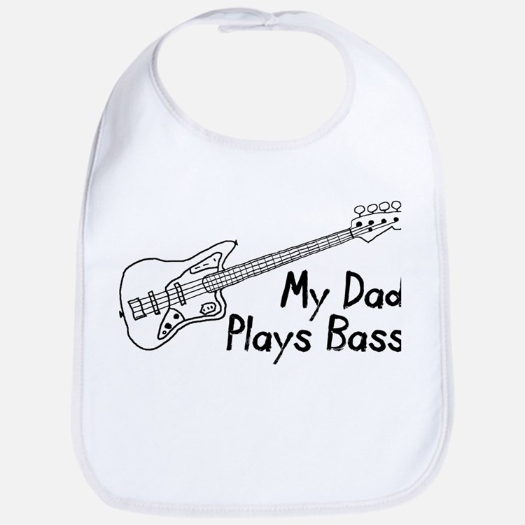 Dad Plays Bass Bib