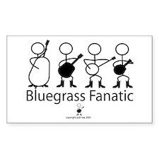 Bluegrass Fanatic Rectangle Decal