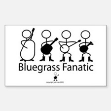 Bluegrass Fanatic Rectangle Decal