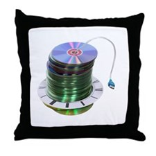 Timely storage solutions Throw Pillow