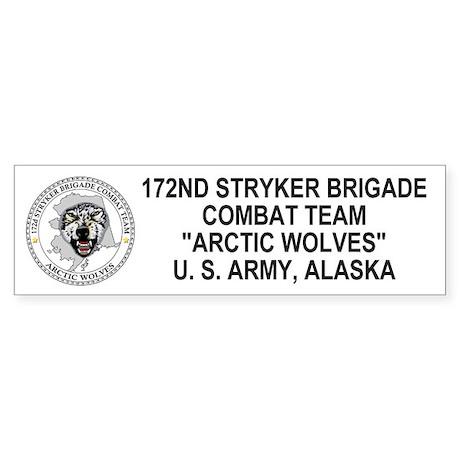 172nd Stryker Bde <BR>Arctic Wolves Bumpersticker
