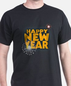 New Year Fireworks T-Shirt
