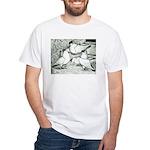 Helmet Pigeons White T-Shirt