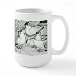 Helmet Pigeons Large Mug