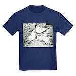 Helmet Pigeons Kids Dark T-Shirt