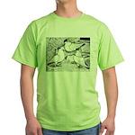 Helmet Pigeons Green T-Shirt