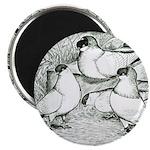 """Helmet Pigeons 2.25"""" Magnet (10 pack)"""