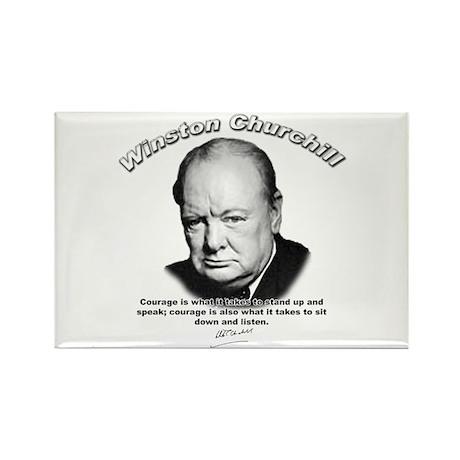 Winston Churchill 01 Rectangle Magnet (100 pack)