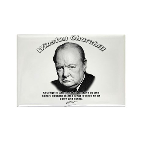Winston Churchill 01 Rectangle Magnet (10 pack)