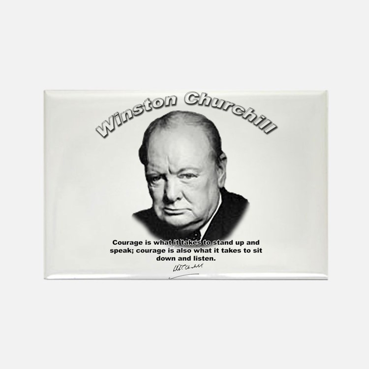 Winston Churchill 01 Rectangle Magnet