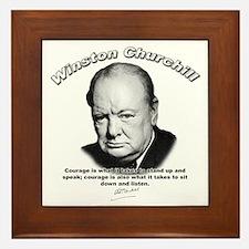 Winston Churchill 01 Framed Tile