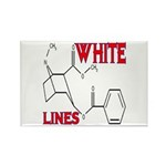 WHITE LINES Rectangle Magnet (100 pack)