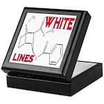 WHITE LINES Keepsake Box