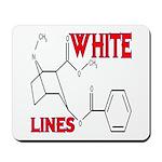 WHITE LINES Mousepad