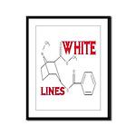 WHITE LINES Framed Panel Print