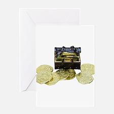 Treasure chest miniature Greeting Card