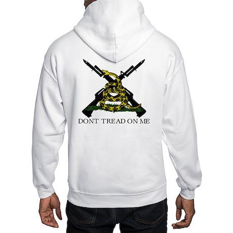 Gadsden Flag Crossed Rifle Hooded Sweatshirt