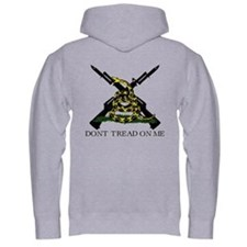 Gadsden Flag Crossed Rifle Hoodie