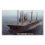 USS WRIGHT Rectangle Sticker