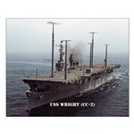 USS WRIGHT Small Poster
