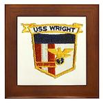 USS WRIGHT Framed Tile