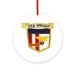 USS WRIGHT Ornament (Round)