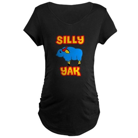 Silly Yak Celiac Maternity Dark T-Shirt