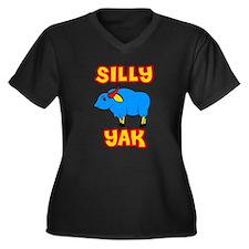 Silly Yak Celiac Women's Plus Size V-Neck Dark T-S