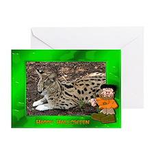 Serval Halloween Greeting Card