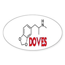 DOVES Oval Decal