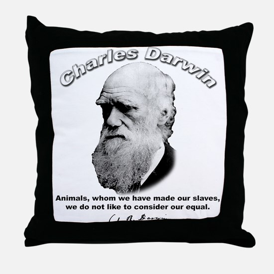 Charles Darwin 03 Throw Pillow