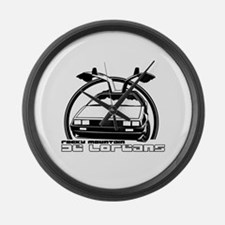 Rocky Mountain DeLoreans Large Wall Clock