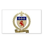 MOREAU Family Crest Rectangle Sticker 50 pk)