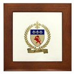 MOREAU Family Crest Framed Tile