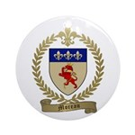 MOREAU Family Crest Ornament (Round)