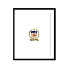 MOREAU Family Crest Framed Panel Print