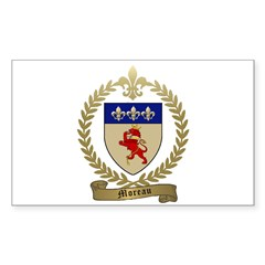 MOREAU Family Crest Rectangle Decal