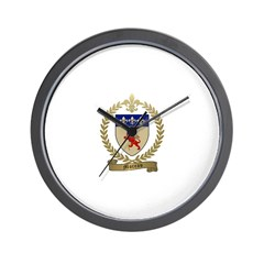MOREAU Family Crest Wall Clock