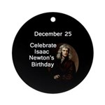 Isaac Newton's Birthday Tree Ornament