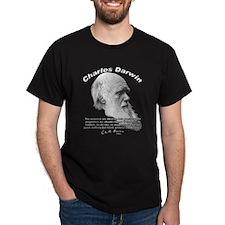 Charles Darwin 04 Black T-Shirt