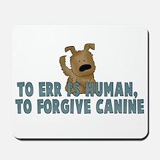 Human vs Canine Mousepad