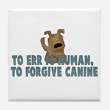 Human vs Canine Tile Coaster