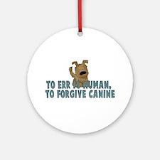 Human vs Canine Ornament (Round)