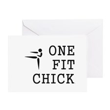One Fit Chick Greeting Card