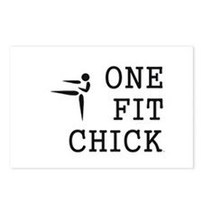 One Fit Chick Postcards (Package of 8)