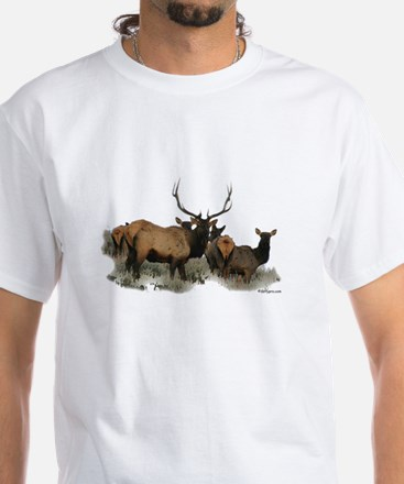 elk White T-Shirt